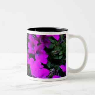 Bloom purple intoxication Two-Tone coffee mug