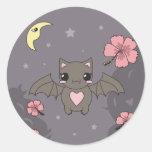 Bloom the Fruit Bat Classic Round Sticker