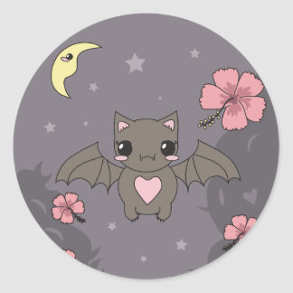 Bloom the Fruit Bat Classic Round Sticker
