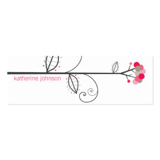 Bloom Tree Dots | *01 Profile Card | Gift Tag | Double-Sided Mini Business Cards (Pack Of 20)