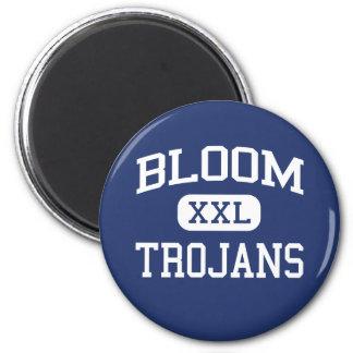Bloom - Trojans - High - Chicago Heights Illinois 2 Inch Round Magnet