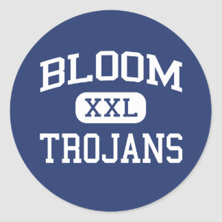 Bloom - Trojans - High - Chicago Heights Illinois Classic Round Sticker
