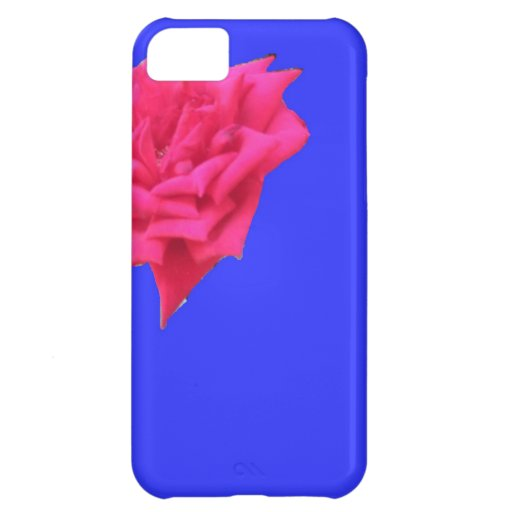 Bloom where planted (blue) cover for iPhone 5C