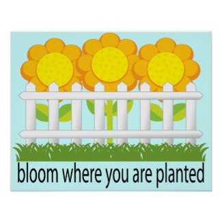 Bloom Where Planted Garden Print print