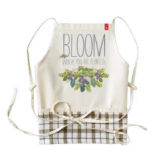 Bloom Where You Are Planted Floral Fun Apron