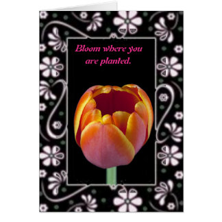 Bloom Where You Are Planted Greeting Card