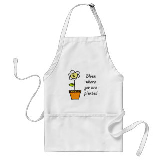 Bloom Where You Are Planted II Adult Apron