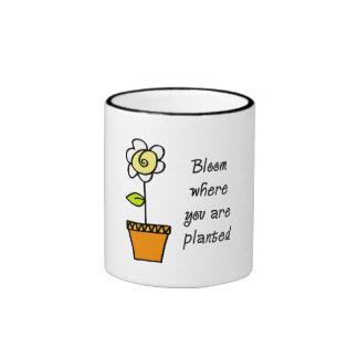 Bloom Where You Are Planted II Ringer Coffee Mug