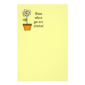 Bloom Where You Are Planted II Stationery