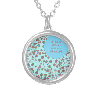 Bloom Where You Are Planted Silver Plated Necklace