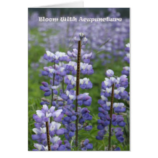 Bloom With Acupuncture III Card