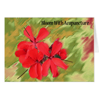 Bloom With Acupuncture Notecard Greeting Cards