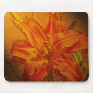 Bloom with Leather Texture Mouse Mats