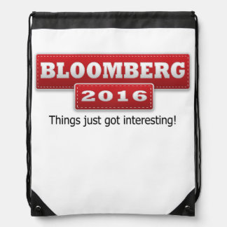 Bloomberg 2016 Things Just Got Interesting Drawstring Backpack