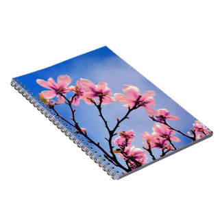Bloomed Cherry Tree Spiral Note Book