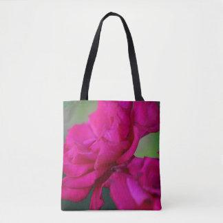 Bloomed Pink Rose Tote Bag