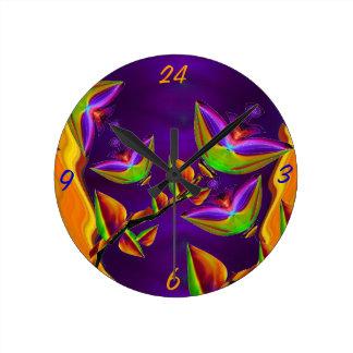 Bloomfasia Flower Art Wall Clock