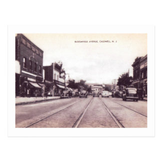 Bloomfield Ave., Caldwell, New Jersey Vintage Postcard