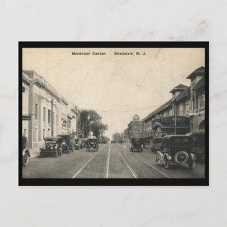 Bloomfield Ave., Montclair, New Jersey Vintage postcard