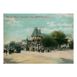 Bloomfield Ave., Montclair NJ 1908 Vintage Poster