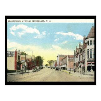 Bloomfield Ave., Montclair NJ Vintage Postcard