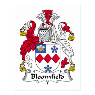 Bloomfield Family Crest Postcard