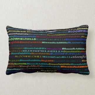 Bloomfield Hills Text Design I Lumbar Pillow