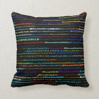 Bloomfield Hills Text Design I Throw Pillow