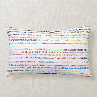 Bloomfield Hills Text Design II Lumbar Pillow