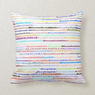Bloomfield Hills Text Design II Throw Pillow