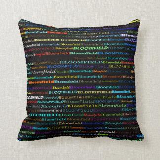 Bloomfield Text Design I Throw Pillow
