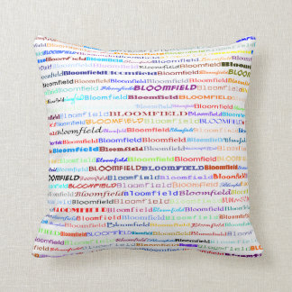 Bloomfield Text Design II Throw Pillow