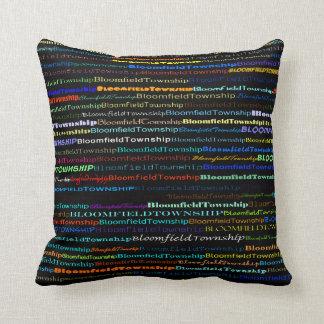 Bloomfield Township Text Design I Throw Pillow