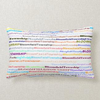 Bloomfield Township Text Design II Lumbar Pillow