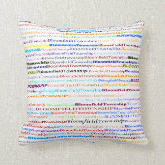 Bloomfield Township Text Design II Throw Pillow