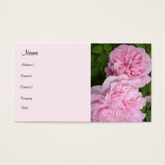Bloomin' Pink Roses Business Card