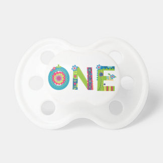 Blooming 1st Birthday BooginHead Pacifier