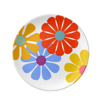 "Blooming 8.5"" Porcelain Plate by Florence Dashiell"