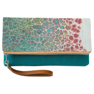 Blooming Abstract Art Clutch