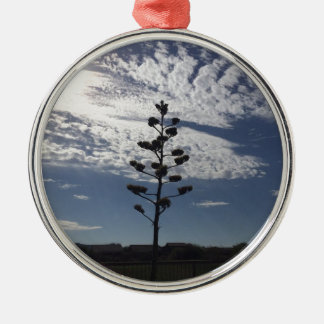 Blooming agave metal ornament