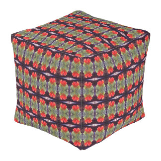 Blooming Agave Pattern Outdoor Pouf