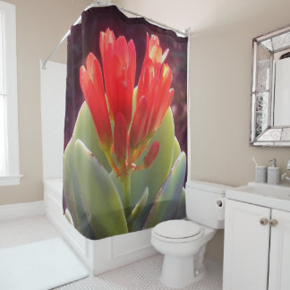 Blooming Agave Shower Curtain