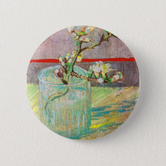 Blooming Almond Branch in a Glass Button