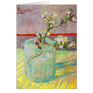 Blooming Almond Branch in a Glass Card