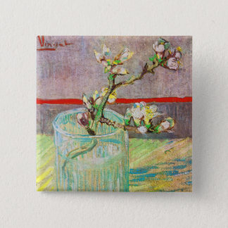 Blooming Almond Branch in a Glass Pinback Button