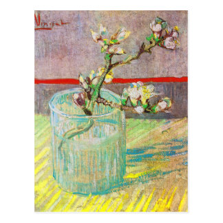 Blooming Almond Branch in a Glass Postcard