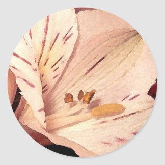 Blooming Alstromeria Classic Round Sticker