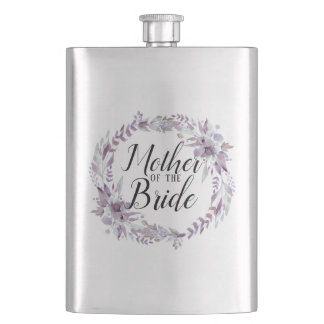 Blooming Amethyst Floral Boho Mother of the Bride Flask