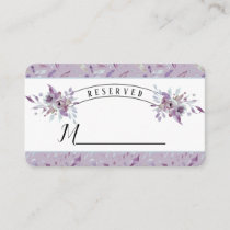 Blooming Amethyst Floral Wedding Reserved Seating Place Card