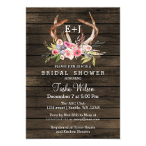 Blooming Antlers Country Chic Bridal Shower Invite